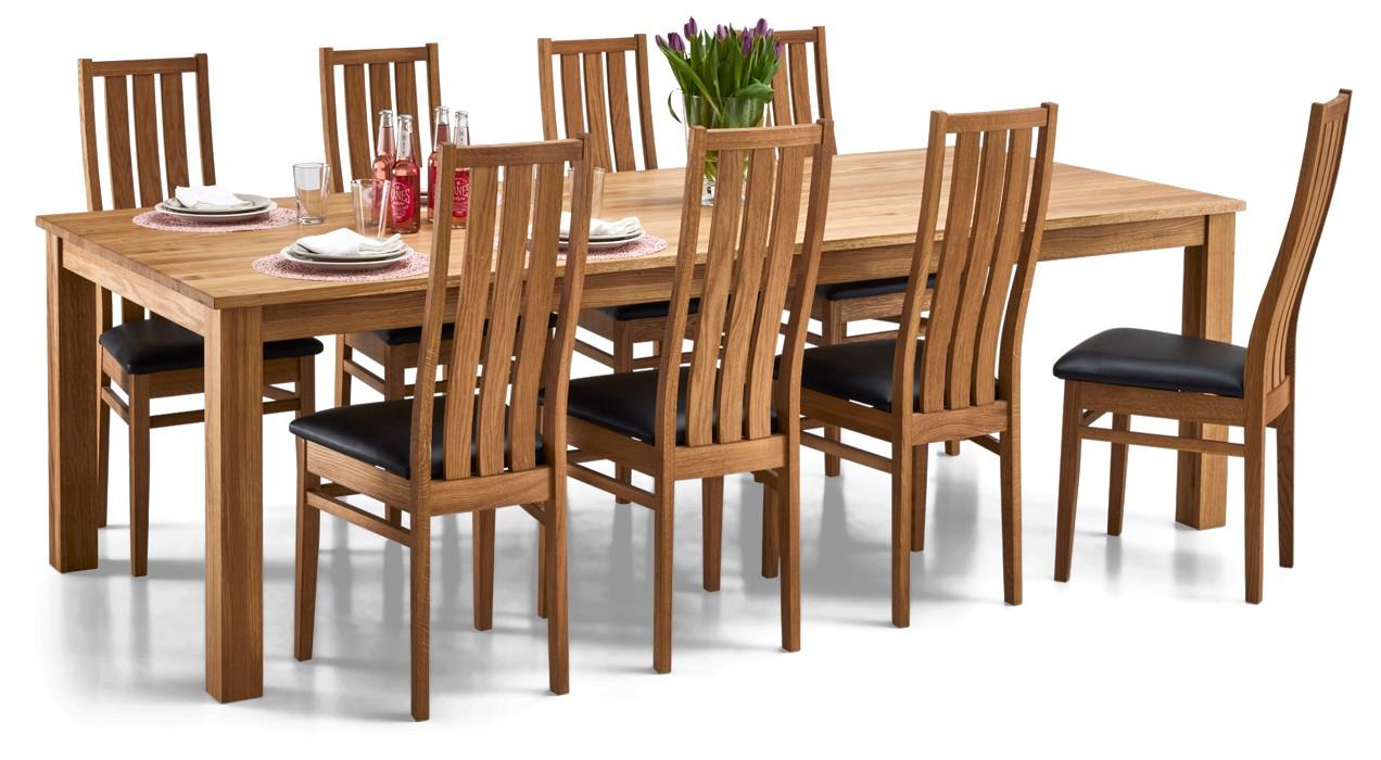 AAVA-ruokapöytä ja 8 MERI-tuolia