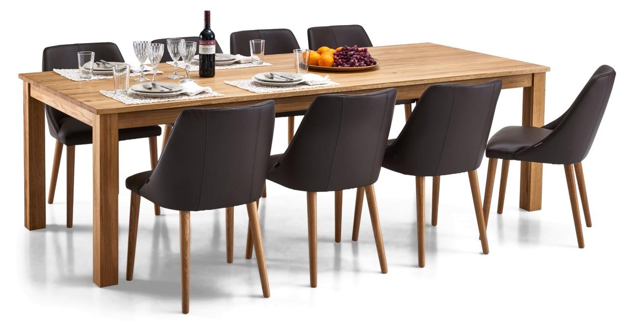 AAVA-ruokapöytä ja 8 RONDO-tuolia
