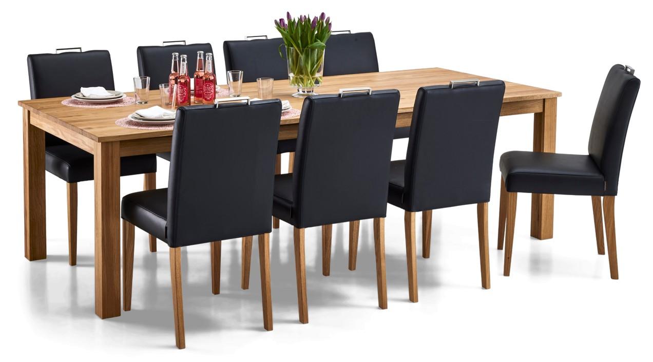 AAVA-ruokapöytä ja 8 SÄDE-tuolia