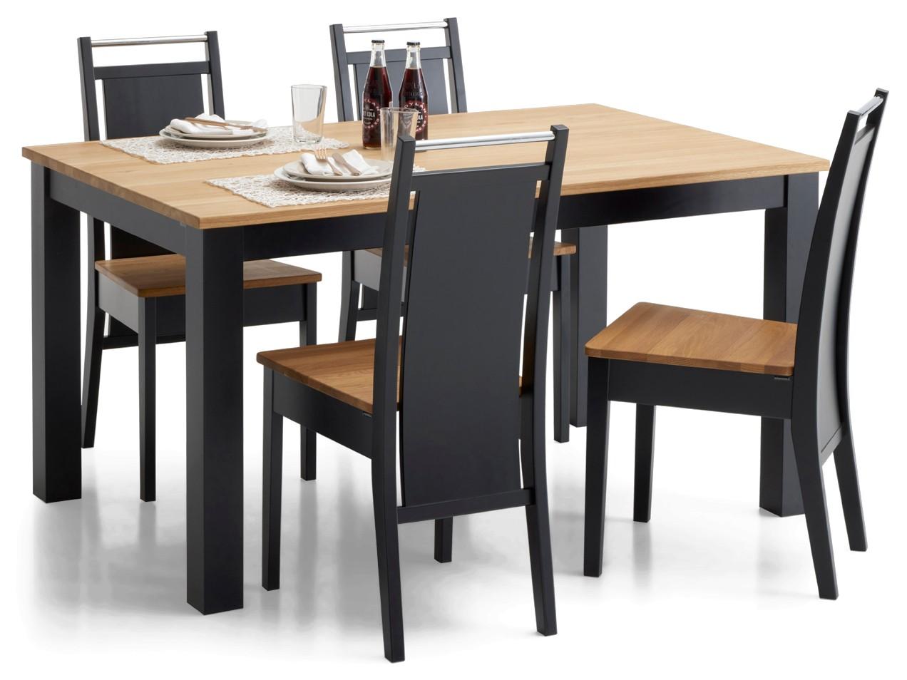 AAVA-ruokapöytä ja 4 KOLI-tuolia