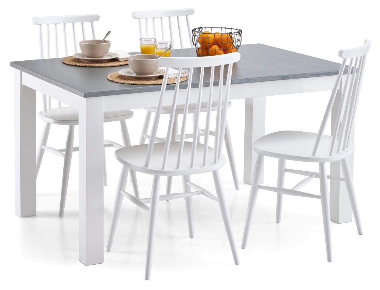 AAVA-jatkettava ruokapöytä ja 4 TUULI-pinnatuolia