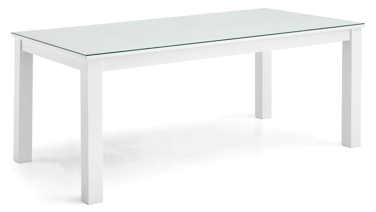 AAVA-ruokapöytä 95 x 180 cm lasikannella