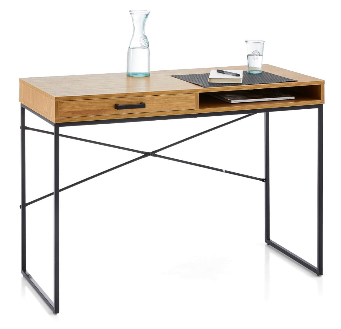 BASIL-työpöytä laatikolla ja avo-osalla