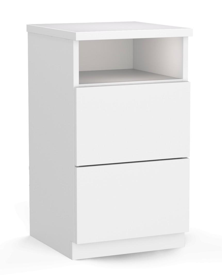 CHOICE-lipasto, 2-laatikkoinen avohyllyllä, push-to-open