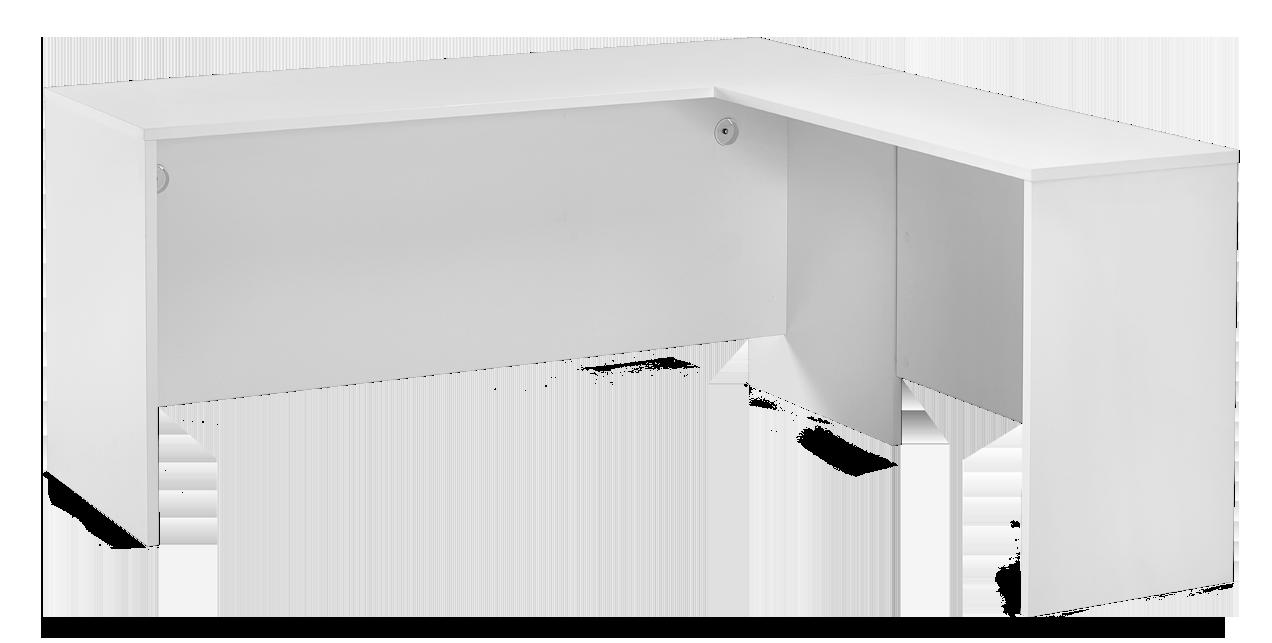 CHOICE-työpöytä ja sivutaso 162 x 167 cm