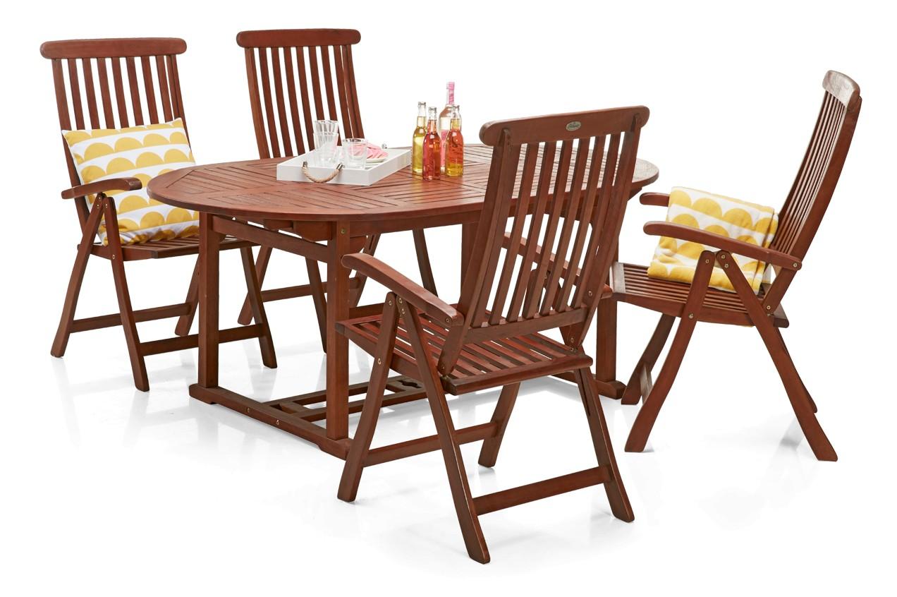 CLASSIC-jatkopöytä ja 4 säädettävää tuolia