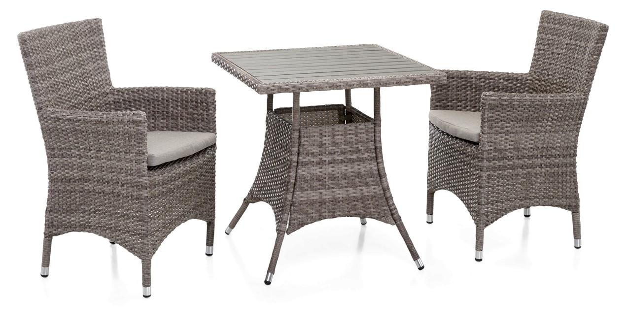 FIGO-pöytä ja 2 tuolia käsinojilla