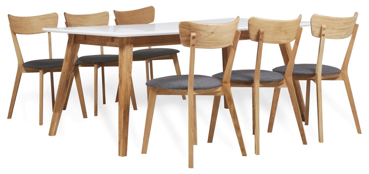 HALEY-ruokapöytä ja 6 DENNY-tuolia
