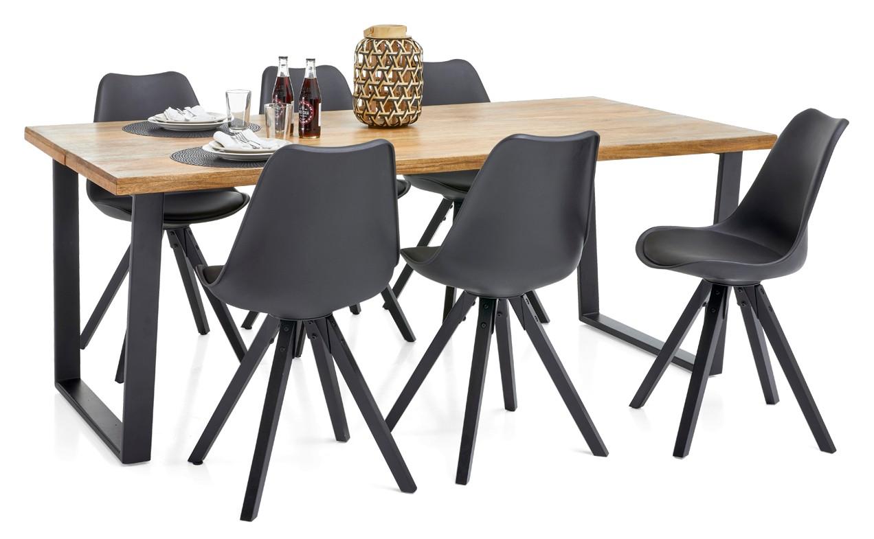 LOFTY-lankkupöytä ja 6 DYLAN-tuolia