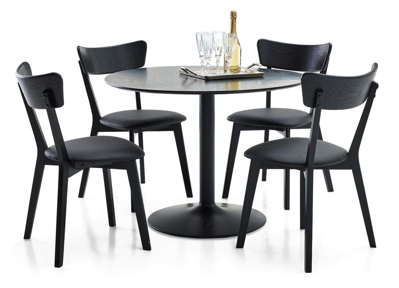 LOOK-ruokapöytä ja 4 DENNY-tuolia