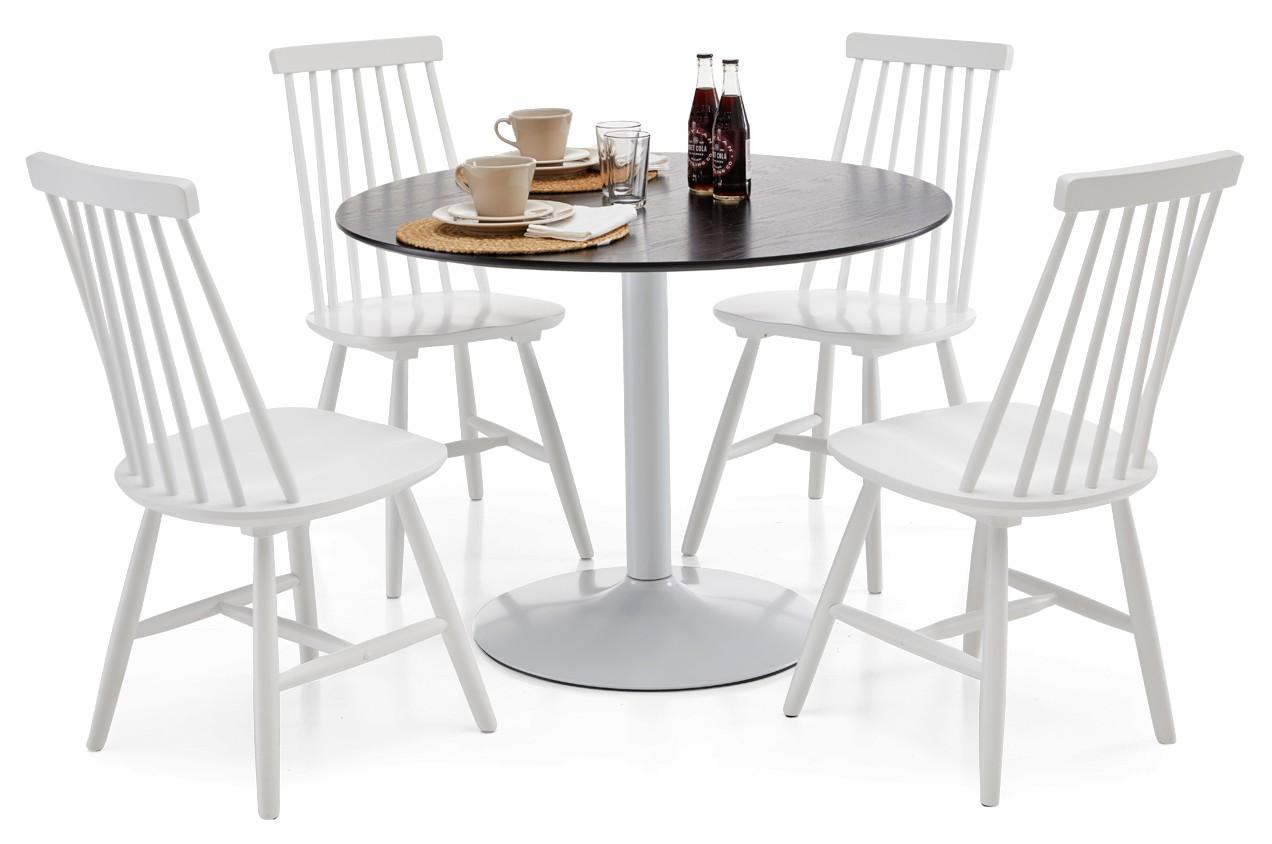 LOOK-ruokapöytä ja 4 STINA-pinnatuolia