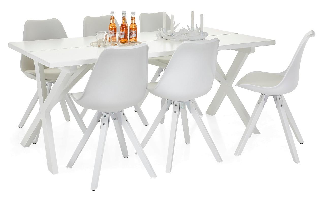 NORTON-lankkupöytä ja 6 DYLAN-tuolia