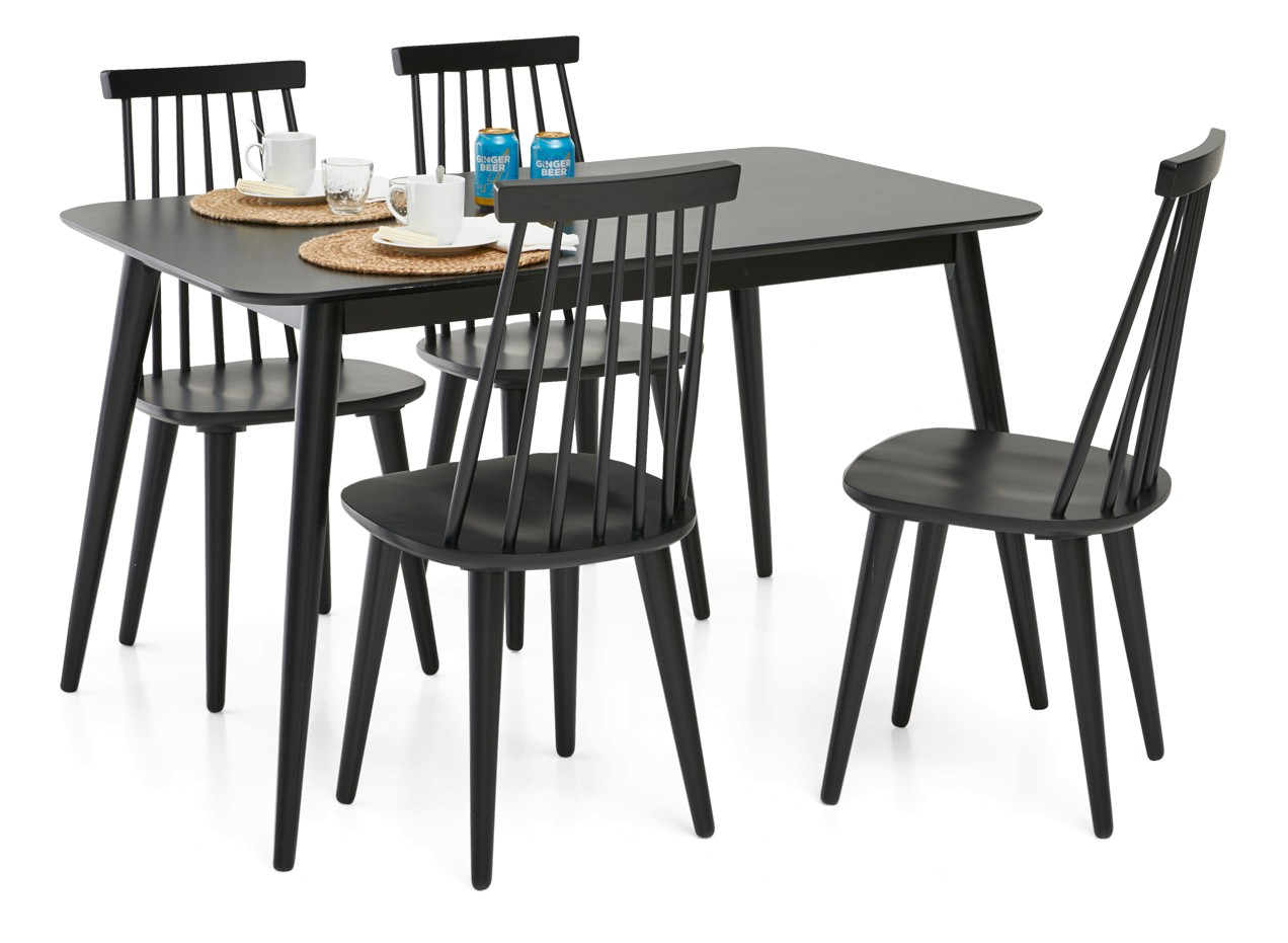 STINA-ruokapöytä ja 4 LISE-pinnatuolia