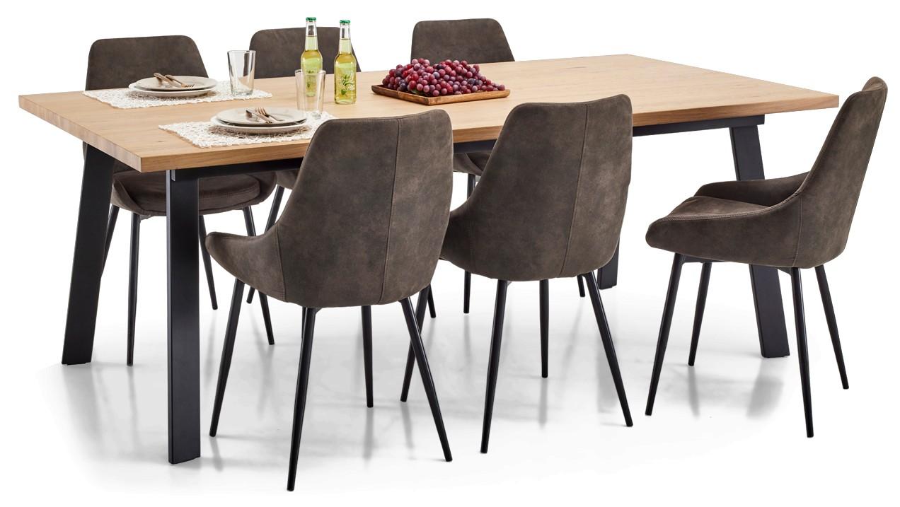 WINNER-ruokapöytä ja 6 NEVADA-tuolia