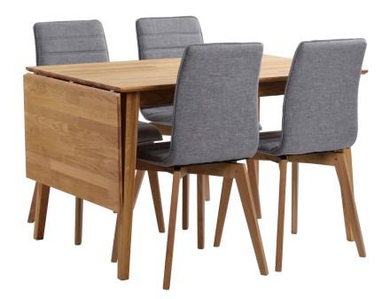 FRIDA-klaffipöytä ja 4 AVENUE-tuolia