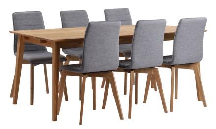 FRIDA-ruokapöytä ja 6 AVENUE-tuolia