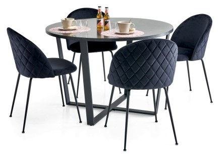 GRACE-ruokapöytä ja 4 LUCY-tuolia