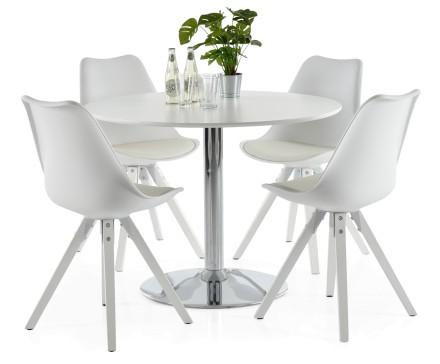 LOOK-ruokapöytä ja 4 DYLAN-tuolia