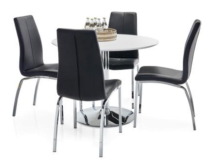 LOOK-ruokapöytä ja 4 ASTON-tuolia