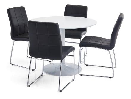 LOOK-ruokapöytä ja 4 JUSTIN-tuolia