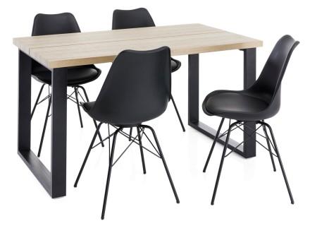 SONOMA-ruokapöytä ja 4 TAYLOR-tuolia