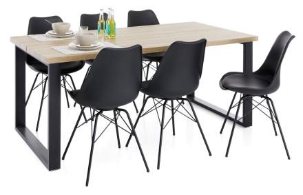SONOMA-ruokapöytä ja 6 TAYLOR-tuolia