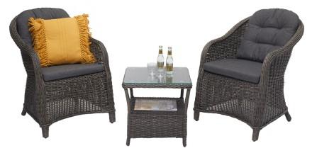 SOPHIA-pikkupöytä ja 2 nojatuolia