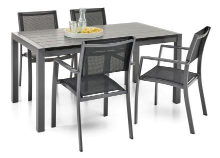 WILLA-pöytä 158 ja 4 tuolia