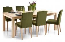 AAVA-ruokapöytä ja 6 SÄDE-tuolia