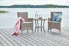FIGO-pikkupöytä ja 2 tuolia käsinojilla