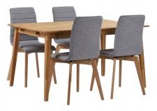 FRIDA-ruokapöytä ja 4 AVENUE-tuolia