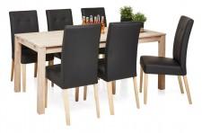 LIMON-ruokapöytä ja 6 STORY-tuolia