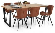 LOFTY-lankkupöytä ja 6 LINE-tuolia