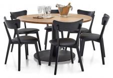 RONDO-ruokapöytä ja 6 DENNY-tuolia