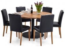 RONDO-ruokapöytä ja 6 SÄDE-tuolia