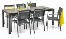 WILLA-pöytä 210 ja 6 tuolia
